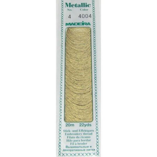 4004 Мулине Madeira Metallic Mouline №4, 4-х слойные, спираль 20 м.