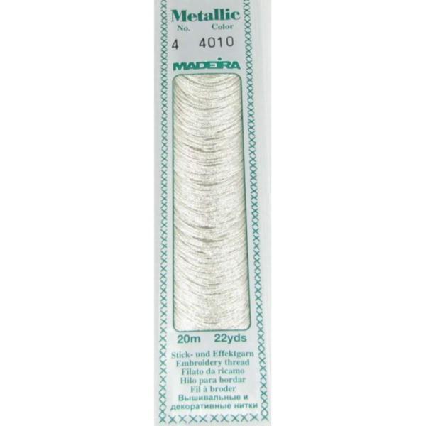 4010 Мулине Madeira Metallic Mouline №4, 4-х слойные, спираль 20 м.