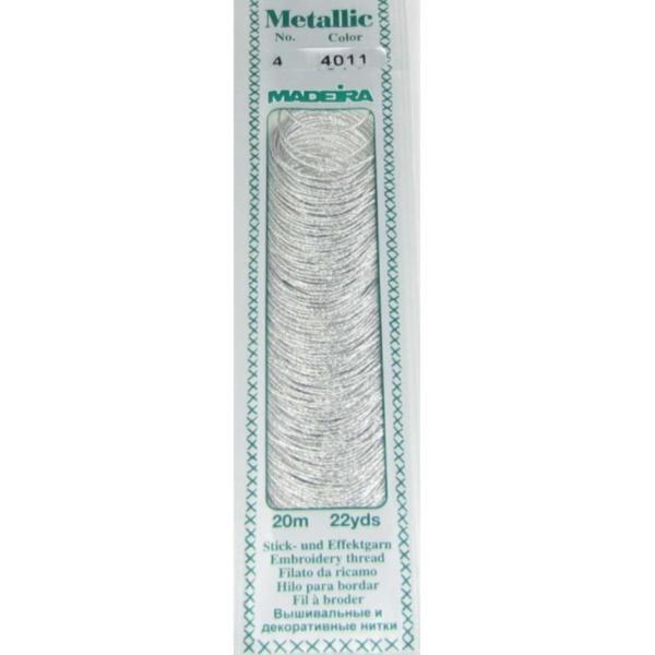 4011 Мулине Madeira Metallic Mouline №4, 4-х слойные, спираль 20 м.