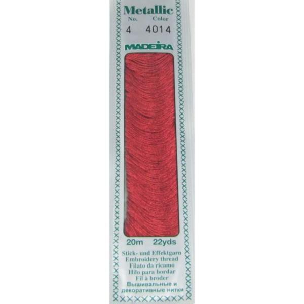 4014 Мулине Madeira Metallic Mouline №4, 4-х слойные, спираль 20 м.