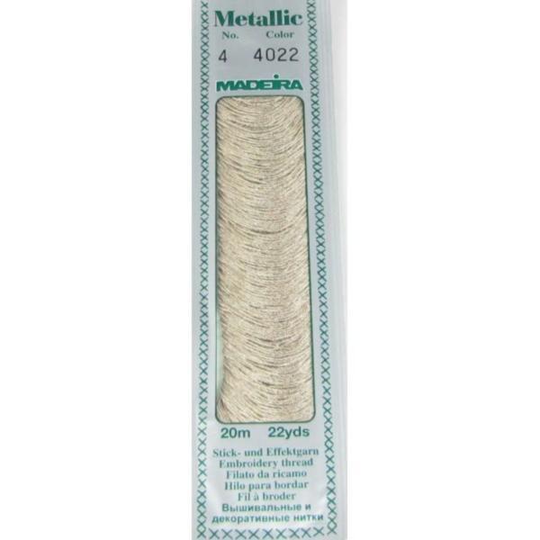 4022 Мулине Madeira Metallic Mouline №4, 4-х слойные, спираль 20 м.