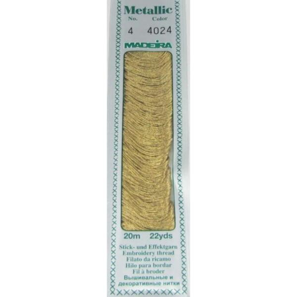 4024 Мулине Madeira Metallic Mouline №4, 4-х слойные, спираль 20 м.