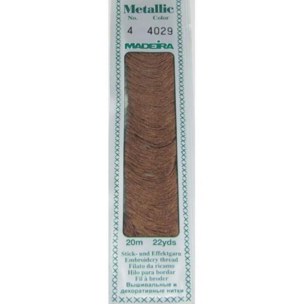4029 Мулине Madeira Metallic Mouline №4, 4-х слойные, спираль 20 м.