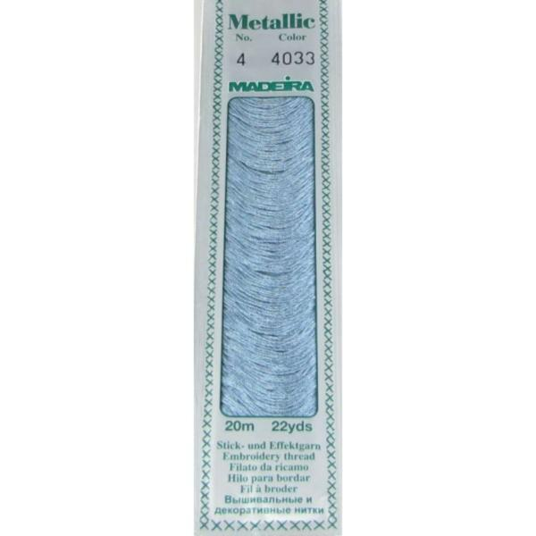 4033 Мулине Madeira Metallic Mouline №4, 4-х слойные, спираль 20 м.