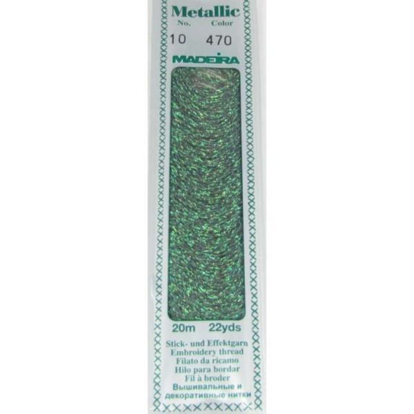 470 Мулине Madeira Metallic Perle №10, 2-х слойные, спираль 20м