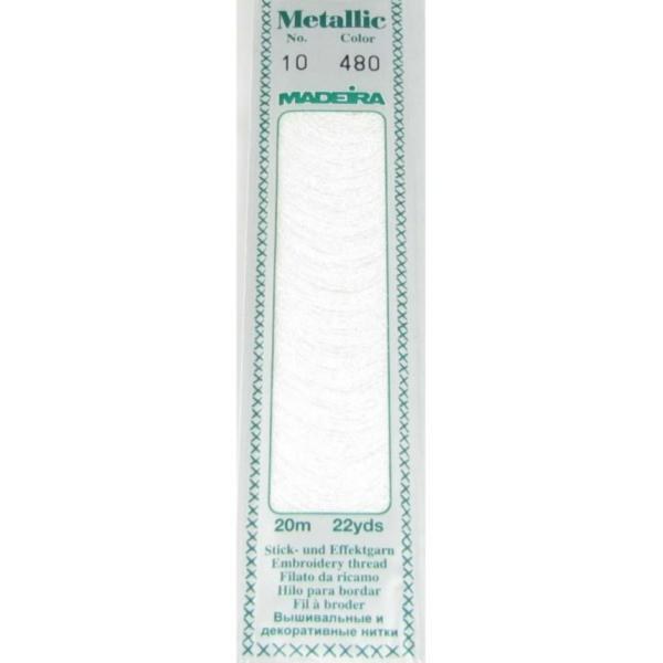 480 Мулине Madeira Metallic Perle №10, 2-х слойные, спираль 20м