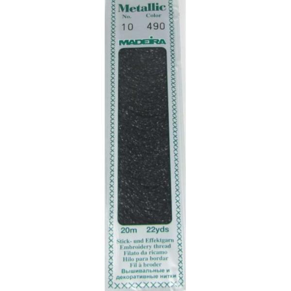 490 Мулине Madeira Metallic Perle №10, 2-х слойные, спираль 20м