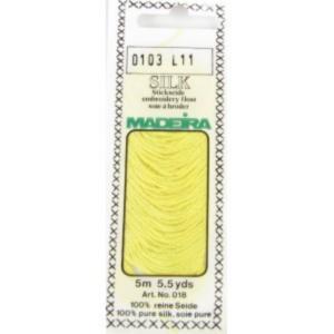 0103 Мулине Silk Madeira 5 m 4-х слойные 100% шелк