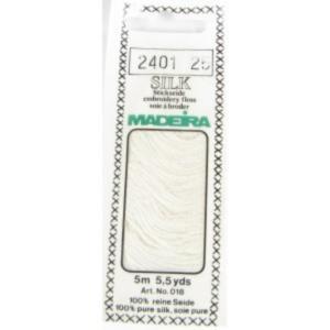 2401 WHITE Мулине Silk Madeira 5 m 4-х слойные 100% шелк