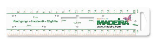 9468 Универсальная линейка для рукоделия, 20 см Madeira