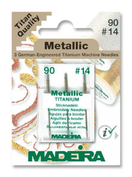 9451 Иглы для металлических ниток 9014 (3 иглыкарточка) Madeira