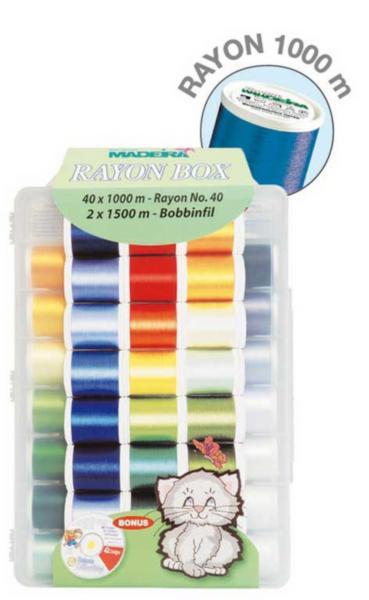 8042 Rayon набор вышивальный (40хRayon 1000 м, 2хBobbinfil 1500 м)