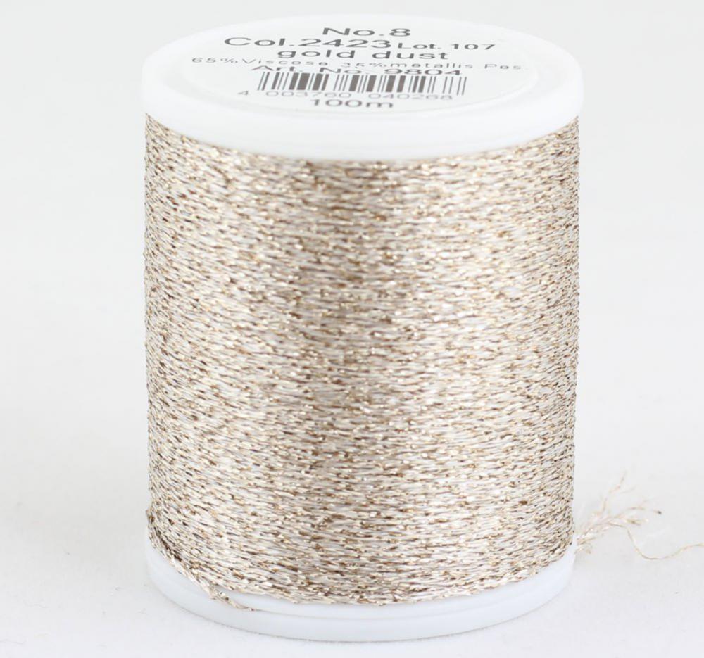 2423/9804 Glamour №8 вискозная нить с металлизированным эффектом, 100м