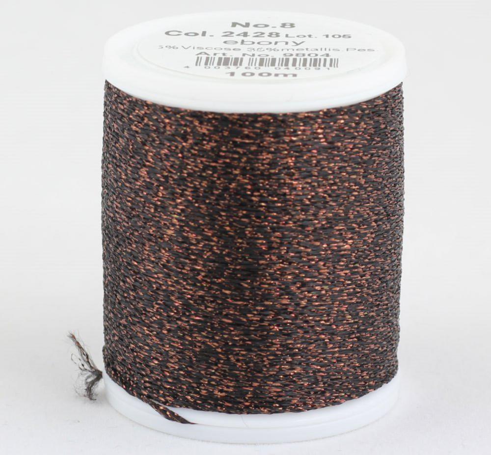 2428/9804 Glamour №8 вискозная нить с металлизированным эффектом, 100м
