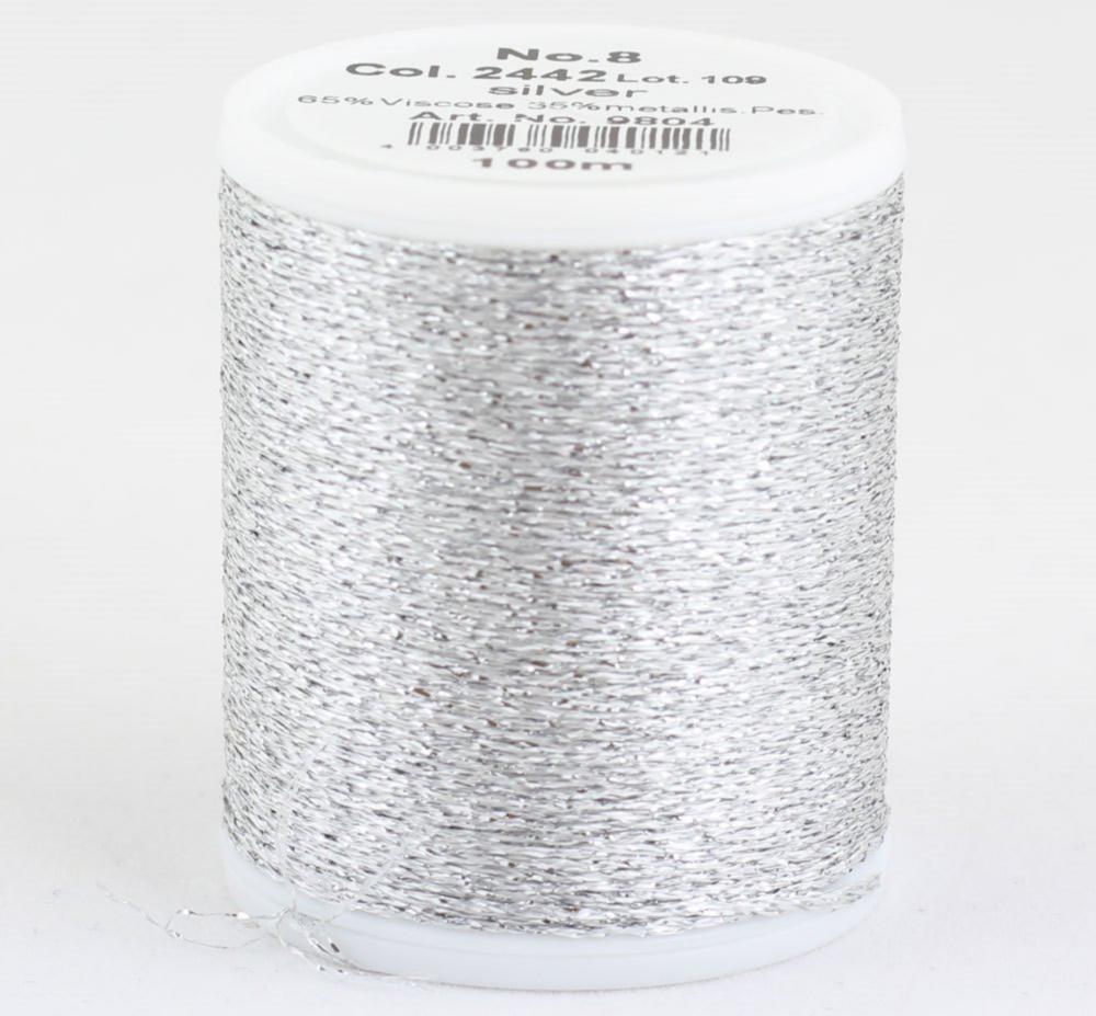 2442/9804 Glamour №8 вискозная нить с металлизированным эффектом, 100м