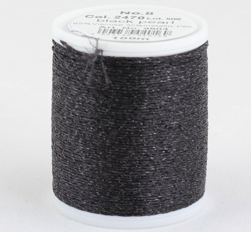 2470/9804 Glamour №8 вискозная нить с металлизированным эффектом, 100м