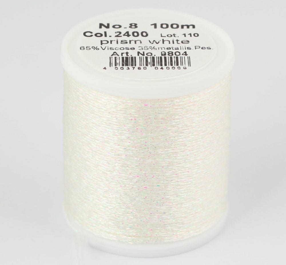 2400/9804 Glamour №8 вискозная нить с металлизированным эффектом, 100м