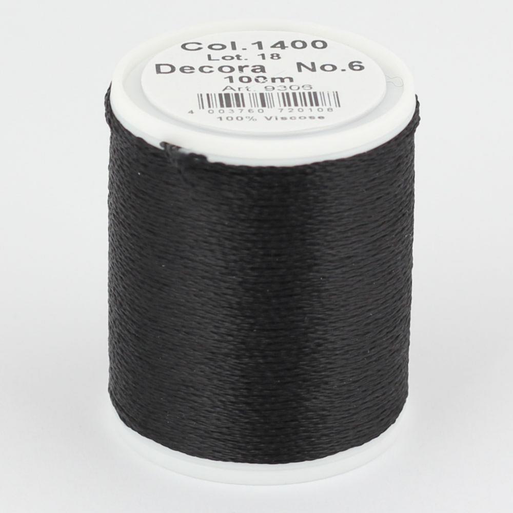 1400/9306 DECORA №6 100% вискозная нить, 100 м
