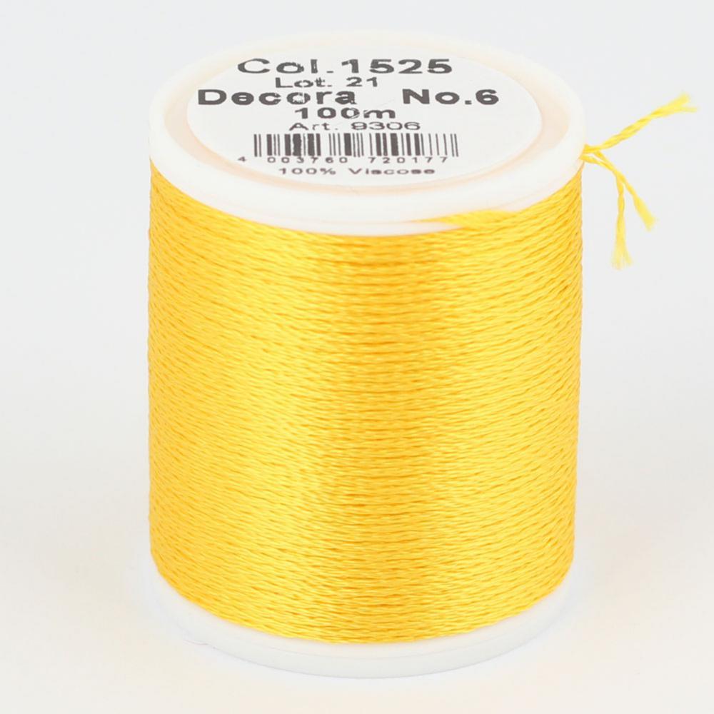 1525/9306 DECORA №6 100% вискозная нить, 100 м