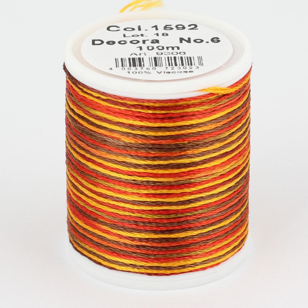 1592/9306 DECORA №6 100% вискозная нить, 100 м