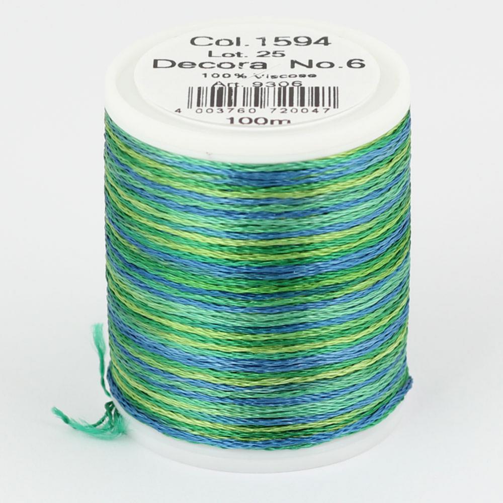 1594/9306 DECORA №6 100% вискозная нить, 100 м