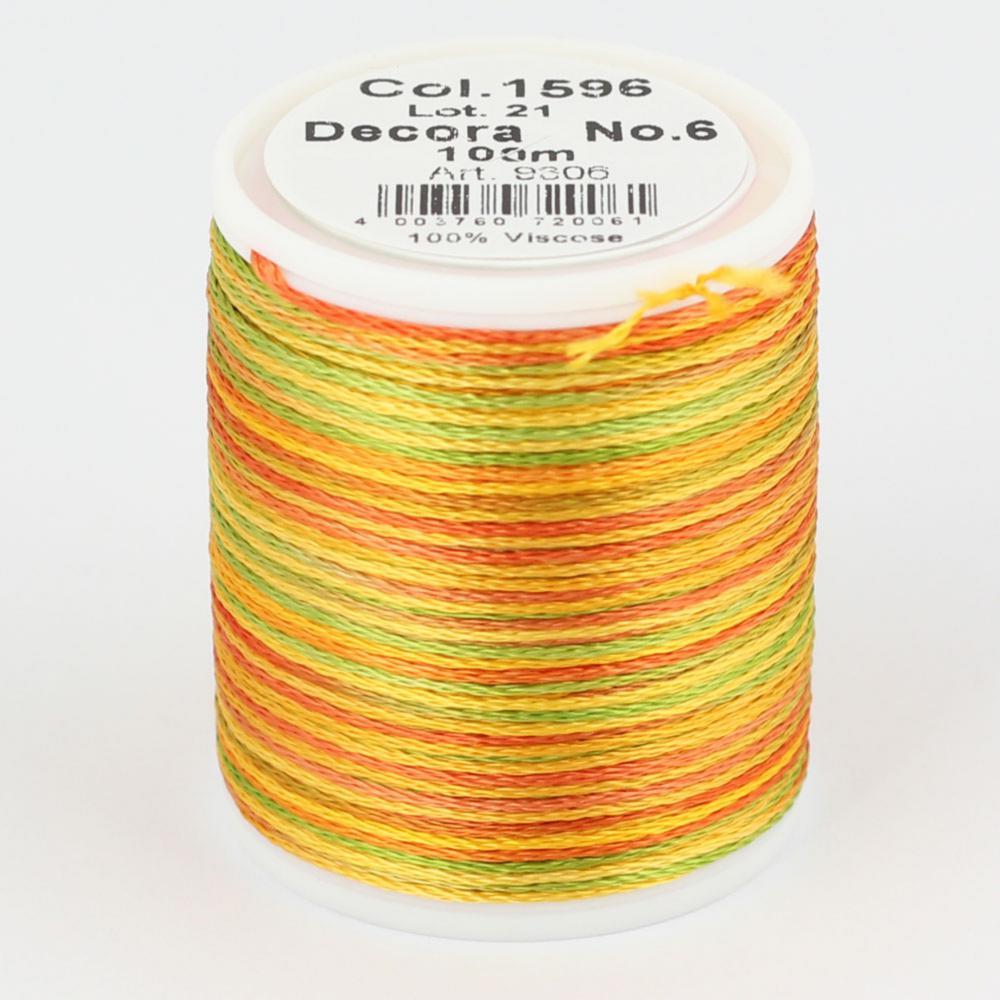 1596/9306 DECORA №6 100% вискозная нить, 100 м