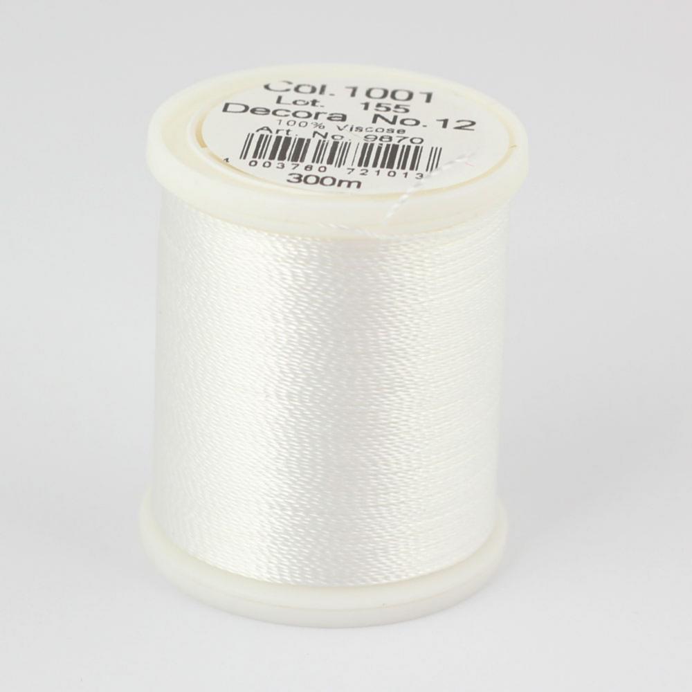 1001/9870 DECORA №12 100% вискозная нить с объемным кручением, 300 м