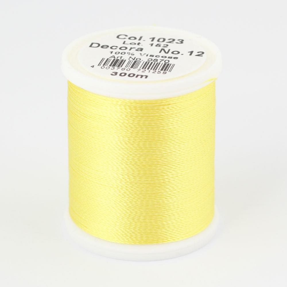 1023/9870 DECORA №12 100% вискозная нить с объемным кручением, 300 м