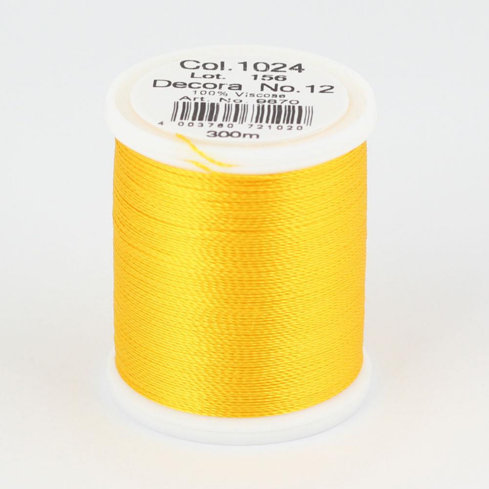 1024/9870 DECORA №12 100% вискозная нить с объемным кручением, 300 м