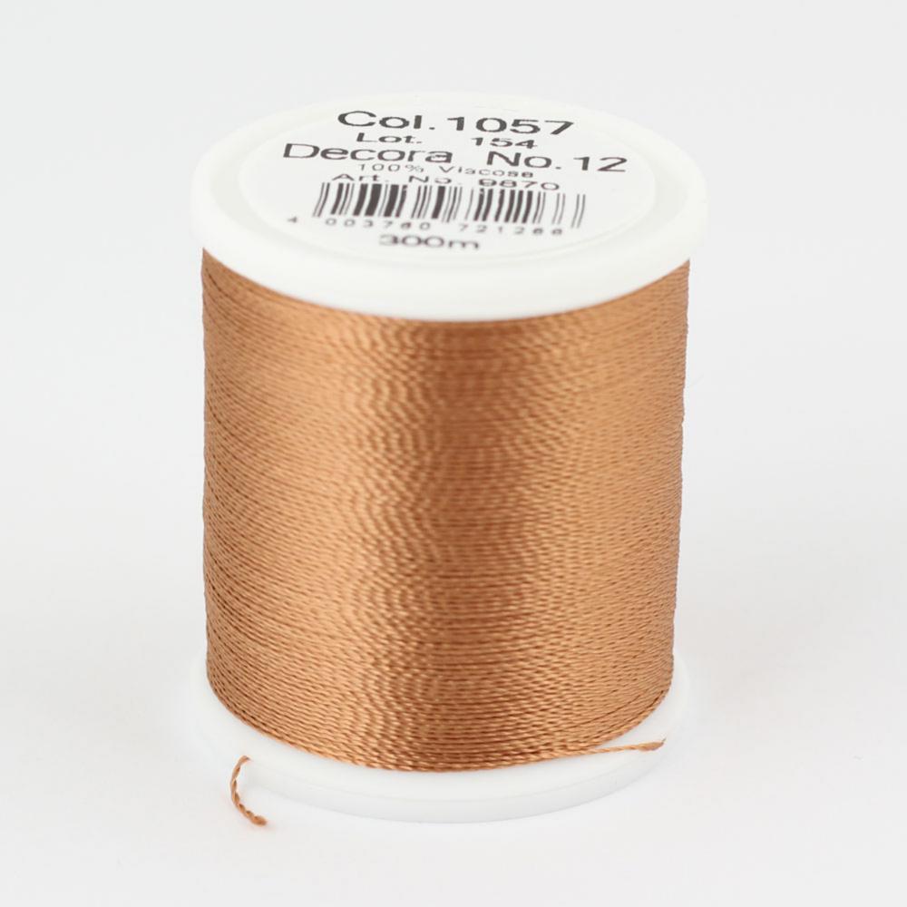 1057/9870 DECORA №12 100% вискозная нить с объемным кручением, 300 м