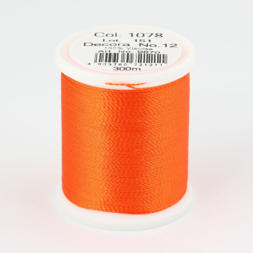 1078/9870 DECORA №12 100% вискозная нить с объемным кручением, 300 м