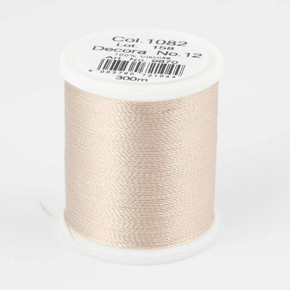 1082/9870 DECORA №12 100% вискозная нить с объемным кручением, 300 м