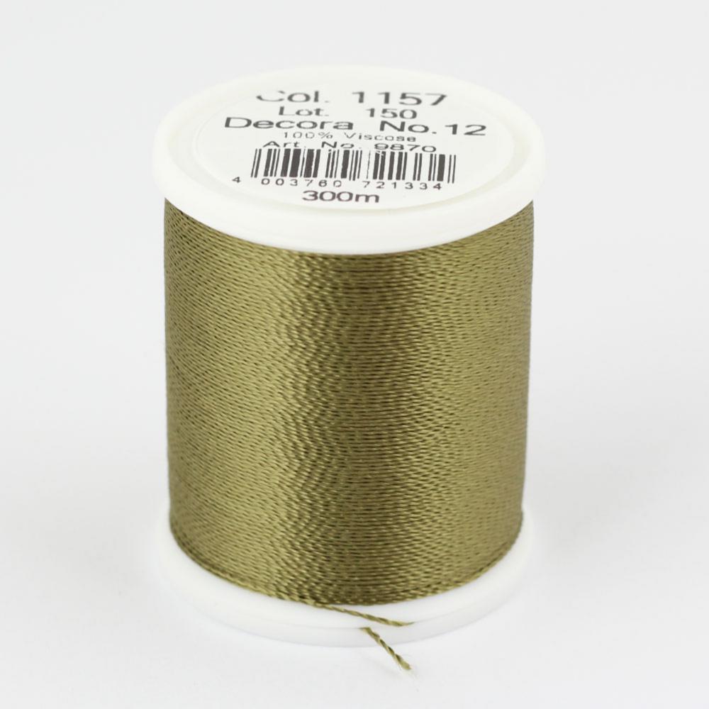 1157/9870 DECORA №12 100% вискозная нить с объемным кручением, 300 м