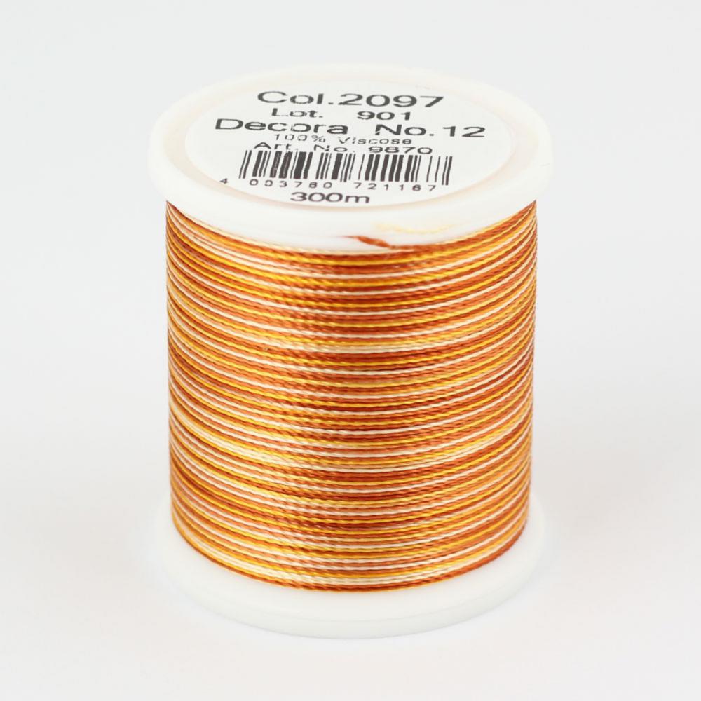 2097/9870 DECORA №12 100% вискозная нить с объемным кручением, 300 м