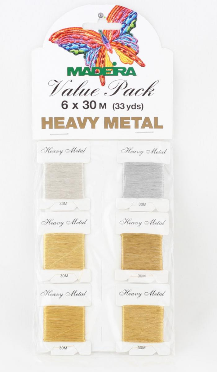 9701 HeavyMetall №40 6 карточек х 30 м блестящие нитки для вышивания (Value Packs)