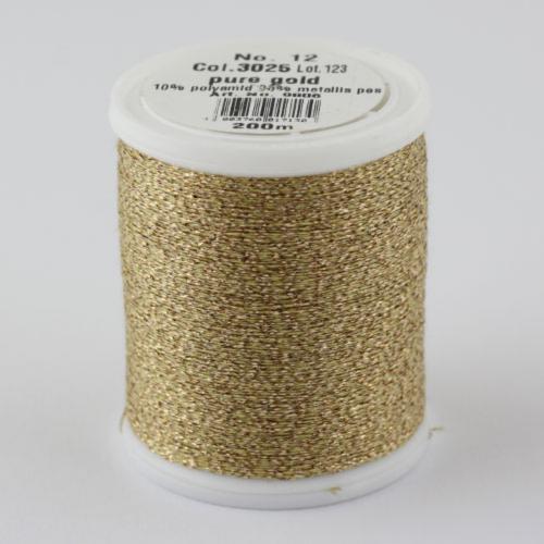3025/9806 Glamour №12 вискозная нить с металлизированным эффектом, 200м
