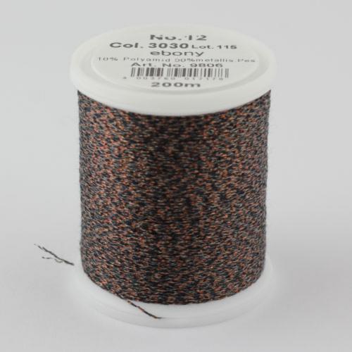 3030/9806 Glamour №12 вискозная нить с металлизированным эффектом, 200м
