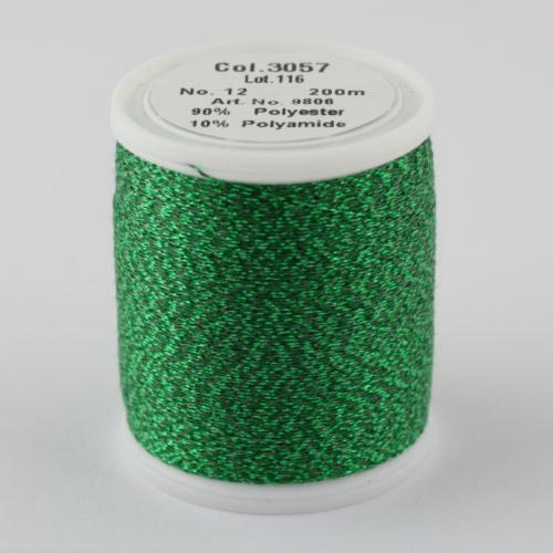 3057/9806 Glamour №12 вискозная нить с металлизированным эффектом, 200м