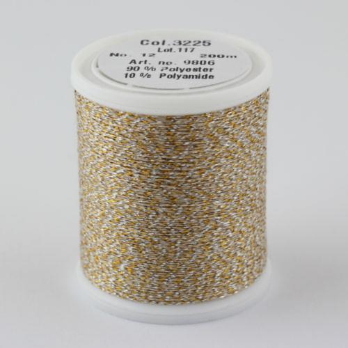 3225/9806 Glamour №12 вискозная нить с металлизированным эффектом, 200м