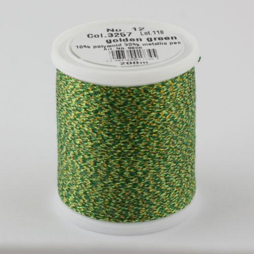 3257/9806 Glamour №12 вискозная нить с металлизированным эффектом, 200м