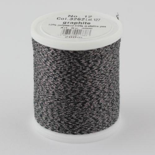 3262/9806 Glamour №12 вискозная нить с металлизированным эффектом, 200м