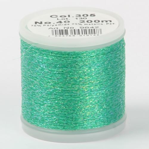 305/9842 Metallic №40 вискоза/металлизированный полиэфир для вышивания, 200 м
