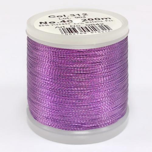 312/9842 Metallic №40 вискоза/металлизированный полиэфир для вышивания, 200 м