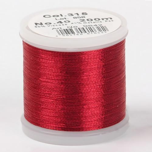 315/9842 Metallic №40 вискоза/металлизированный полиэфир для вышивания, 200 м