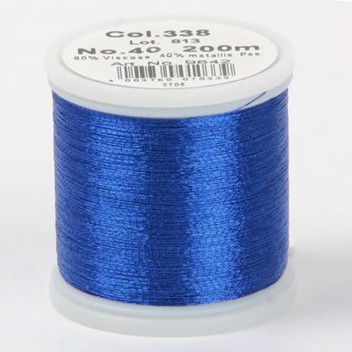 338/9842 Metallic №40 вискоза/металлизированный полиэфир для вышивания, 200 м