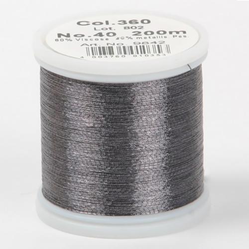 360/9842 Metallic №40 вискоза/металлизированный полиэфир для вышивания, 200 м