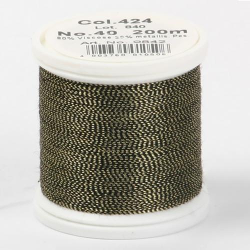424/9842 Metallic №40 вискоза/металлизированный полиэфир для вышивания, 200 м