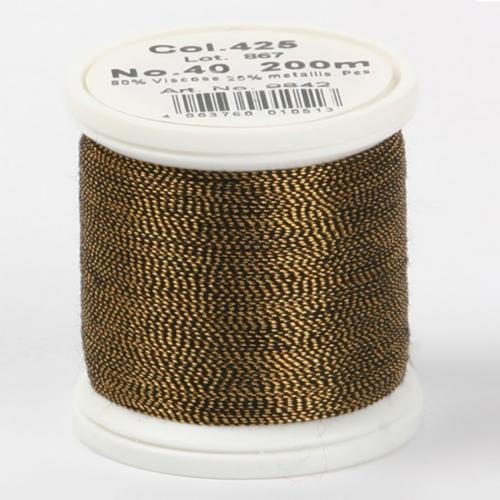 425/9842 Metallic №40 вискоза/металлизированный полиэфир для вышивания, 200 м