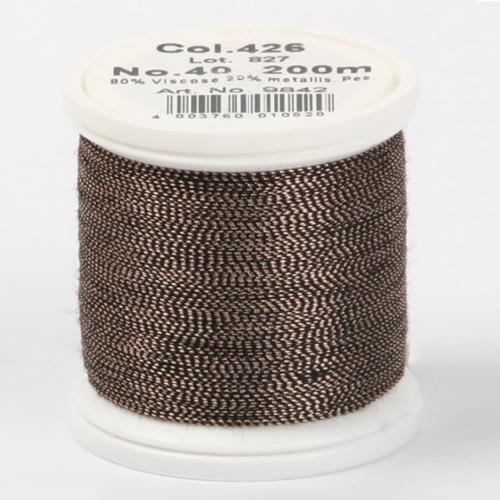 426/9842 Metallic №40 вискоза/металлизированный полиэфир для вышивания, 200 м