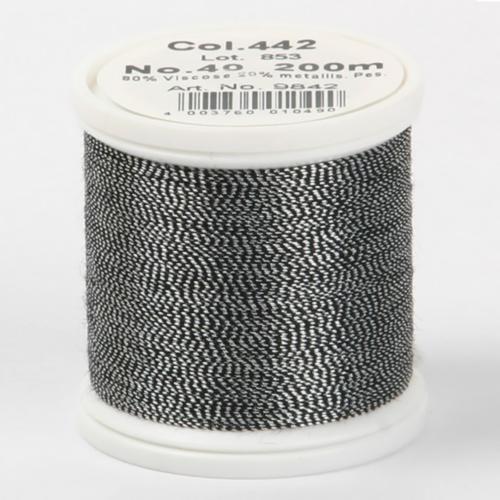 442/9842 Metallic №40 вискоза/металлизированный полиэфир для вышивания, 200 м